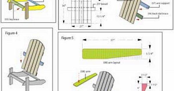 Diy adirondack chair plans outdoors pinterest meubles - Plan de chaise adirondack gratuit ...