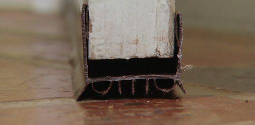 Installing A Door Sweep On An Entry Door Door Sweep Entry Doors Diy Door