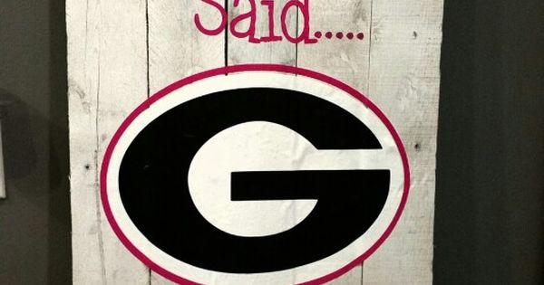 Georgia bulldog pallet wood design | pallet wood projects | Pinterest ...