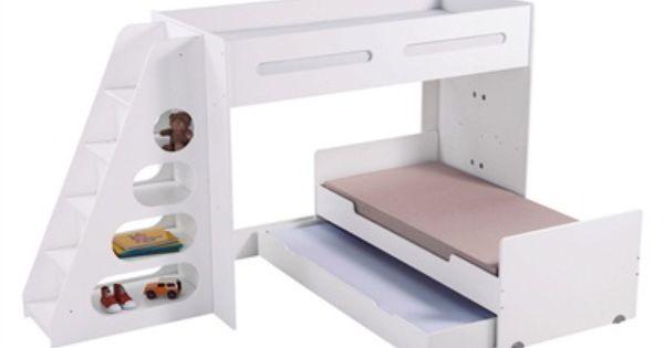Escalier avec rangement pour combin volutif combibed blanc vertbaudet enfant mobilier - Vertbaudet mobilier ...