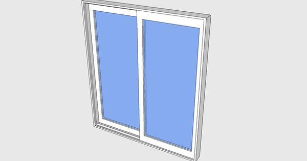 Proline contemporary sliding door 3d warehouse 3d for Door 3d warehouse