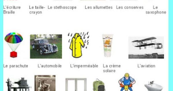 les inventions fran aises 2 french high school lesson plans pinterest france info. Black Bedroom Furniture Sets. Home Design Ideas