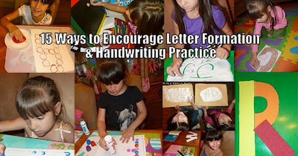 15 Ways to encourage proper letter formation and promote letter writing for