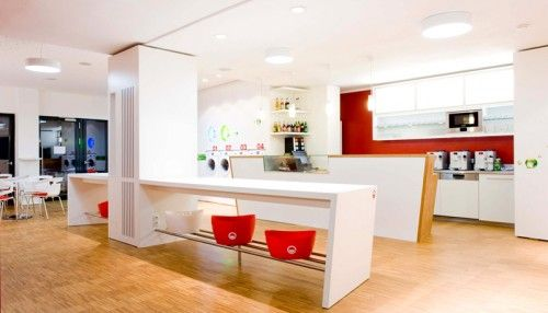 self-service laundry room interior design coffee-shop ...