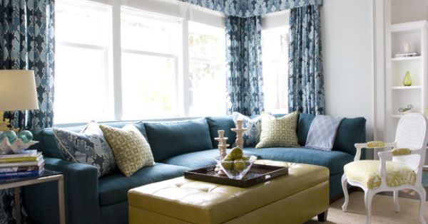 Yellow Green Country Livingroom Design, Pictures, Remodel ...