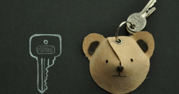 Bear Leather keychain