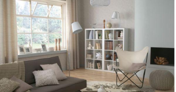 salon peinture couleur blanc casse coussins pouf laine 456x345 couleur lin les couleurs naturelles dans - Couleur Taupe Peinture Murale