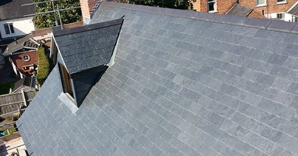 Galex Slate And Stone Heritage Grey Slate Fitted To The Roof Of A New House New Build In Nantwich Cheshire 40cm X 25cm 16 X Cheshire Slate Roof New Builds