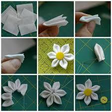 Resultado De Imagen Para Flores De Tela Paso A Paso Flores En Tela Paso A Paso Hacer Flores De Tela Como Hacer Flores