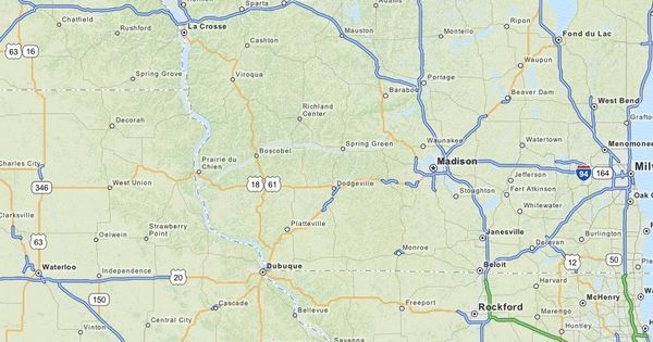 Map of Wisconsin MapQuest Country Sampler in Spring