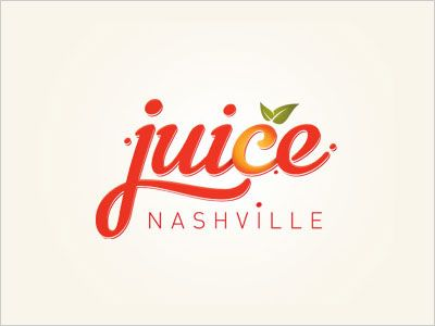 Nashville Juice Logo Design 25 Cool Creative Fast Food