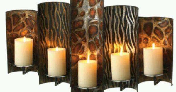 Safari Candle Holder Safari Home Decor Pinterest