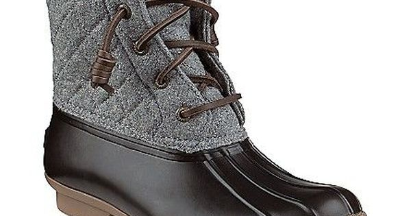 Saltwater Wool Duck Boot | Boots, Sperry boots, Duck boots