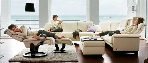 Stressless Sofa Loveseat Recliner Chair And Ottoman By Ekornes