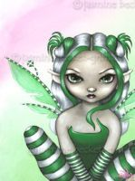 Spearmint Sprite fairy gothic big eye art Jasmine Becket-Griffith CANVAS PRINT