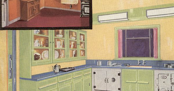 1935 Kitchen Design Interiors Pinterest Kitchens