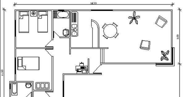 Plano 90 m2 casa prefabricada forma de l ver plano gratis for Ver planos de casas