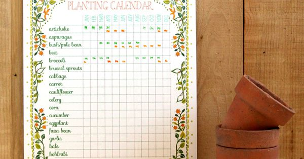 Nursery Calendar Ideas : Free printable planting calendar