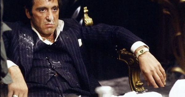 "Tony Montana in ""Scarface."" ""Who do I trust? Me!"""