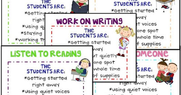 What the Teacher Wants! - Daily 5 Anchor Chart