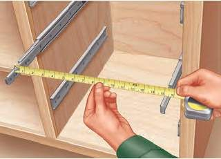 Building Drawers By Installing And Measuring The Drawer Slides First Building Drawers Woodworking Woodworking Tips