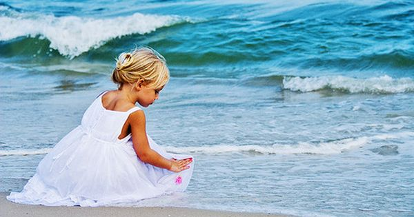 Little girl by the ocean. :)