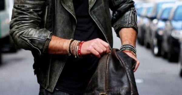 men with style, men's fashion, leather jacket, cool, Autumn fashion, fall fashion,