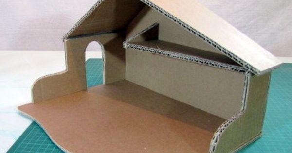 Tutoriel cr che de no l en carton patron offert for Tutoriel meuble en carton