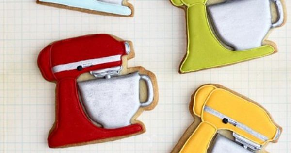 Kitchen aid Mixer cookies - these are the ultimate Decorated Cookies| http://decoratedcookies805.blogspot.com