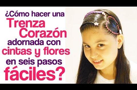 Peinados fáciles para niña | Trenza Corazón adornada con ...