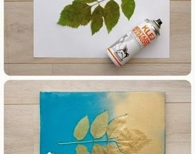 use leaves n paint 20 Easy DIY Art Projects for Your Walls
