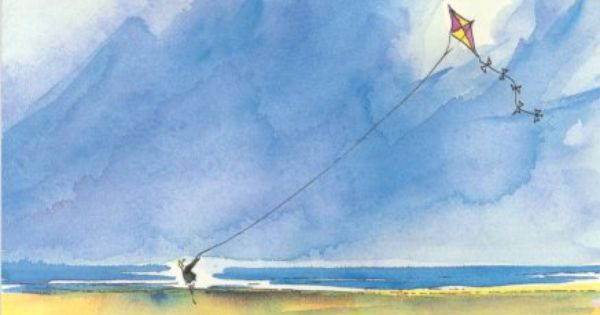 Flying A Kite On The Beach An Illustration From Ride The Wings