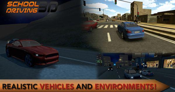 تعلم قيادة السيارات مع لعبة School Driving 3d للأيفون والأندرويد نيوتك New Tech Driving School School Driving