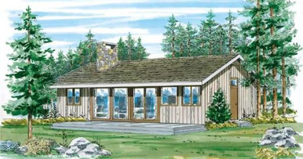 Cabins Ranch Vacation Homes House Plans Home Design Sea011 7008 Ranch Style House Plans Modern Contemporary House Plans Contemporary House Plans