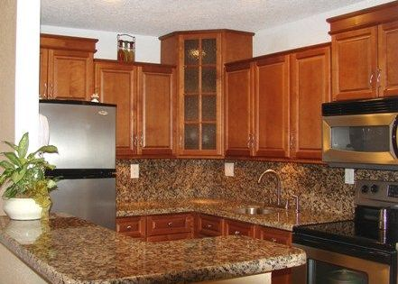 Spice maple kitchen with door style cabinets by kitchen for Cheap maple kitchen cabinets