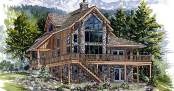 Stone And Wood Siding Stained Mountain Jenish House Design Limited Canada S 1 Independent Home Plan House Styles House Design House Plans