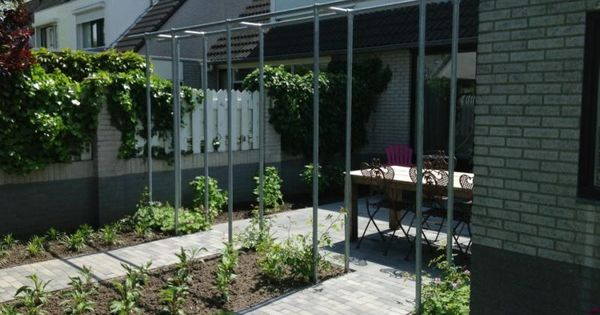 Pergola stalen buis vastgoedstyling tuin pinterest pergola 39 s - Pergola klimplant ...