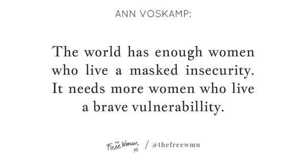 """""""The World Has Enough Women Who Live A Masked Insecurity"""