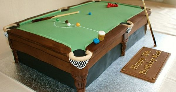 snooker table cake ideas 3