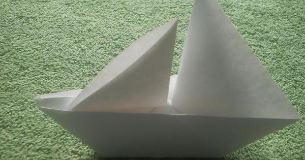 origami tutorial origami sailboat table decor pinterest