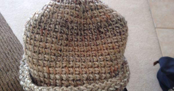 Tunisian Knit Stitch Headband Pattern : Tunisian Simple Stitch boys hat. ~ Leslie Molengraaf Tunisian Crochet ...