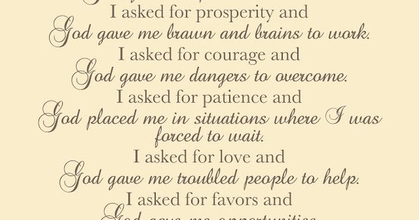 How God answers prayers  I love this prayer! quote saying