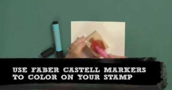 How to: Stamp in Multiple Colors MichaelsStores using Hampton Art Cute Cupcake