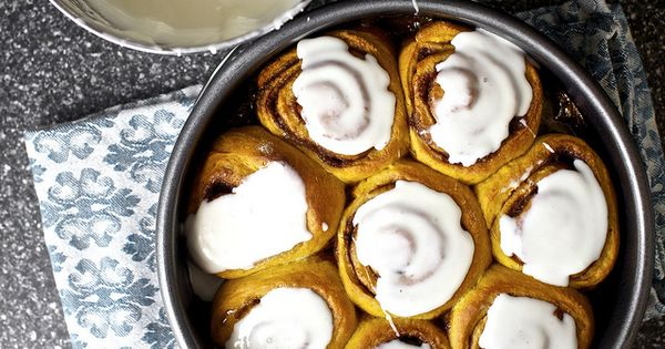 pumpkin cinnamon rolls recipe by smitten kitchen