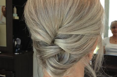 Updo For 50 And Over Women On Going Gray Pinterest