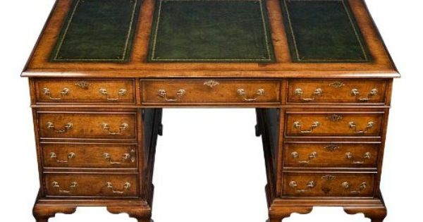 English Walnut Partners Desk By English Classics 3905 00 This Beautiful Walnut Partners Desk Is English Made By Hand Antique Writing Desk Partners Desk Desk