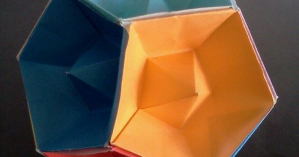 tommy clancy box tomoko fuse tutorial modular origami. dodecahedron with recessed faces, folded ... #9