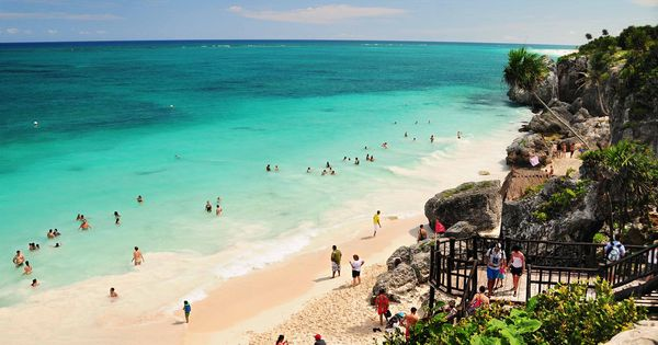 Tulum Mexico. The most beautiful beach and it's so bloody hot, you