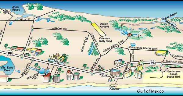 Destin Florida Map Destin Florida Map 1 Vacations