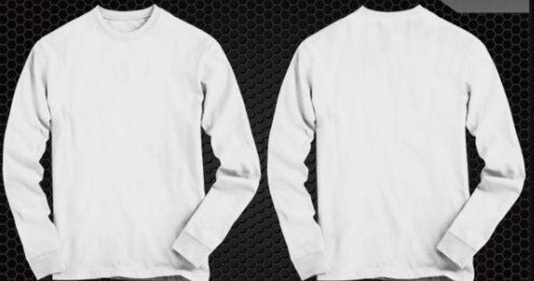 Download Gambar Baju Polos Warna Putih Depan Belakang 11 Desain Kaos Lengan Panjang Paling Lengkap 2019 Styles Download Mau Tau Ap Kaos Kaos Sablon Lengan Panjang